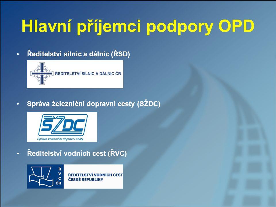 Hlavní příjemci podpory OPD