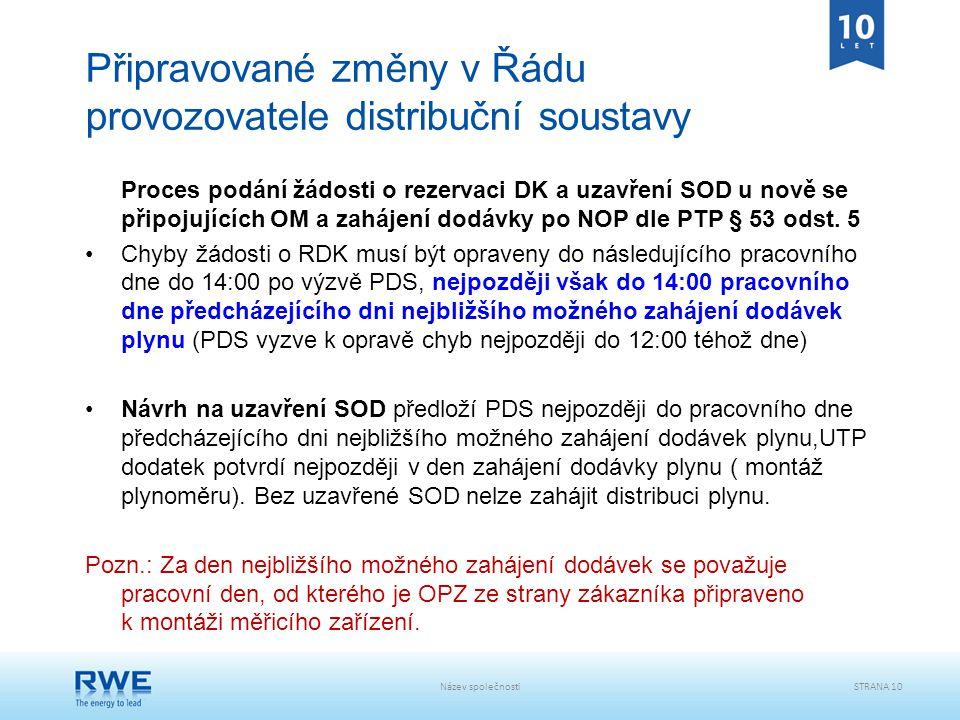 Připravované změny v Řádu provozovatele distribuční soustavy