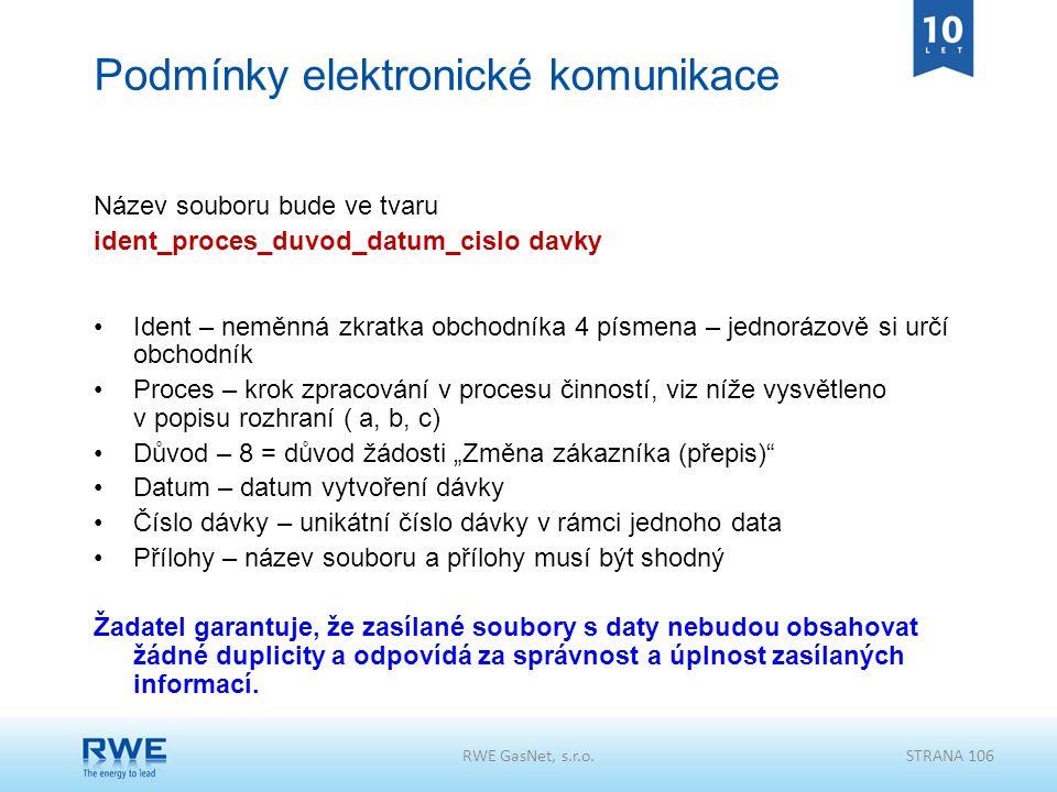 Podmínky elektronické komunikace