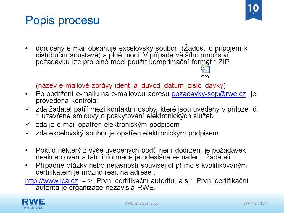 Popis procesu