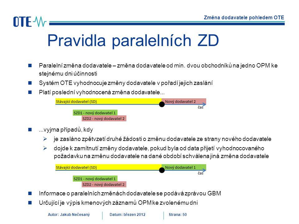 Pravidla paralelních ZD