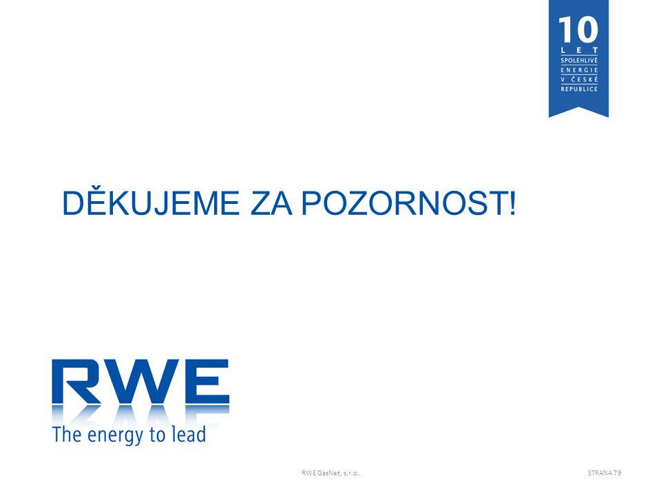 DĚKUJEME ZA POZORNOST! RWE GasNet, s.r.o.