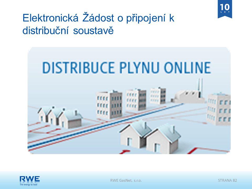 Elektronická Žádost o připojení k distribuční soustavě