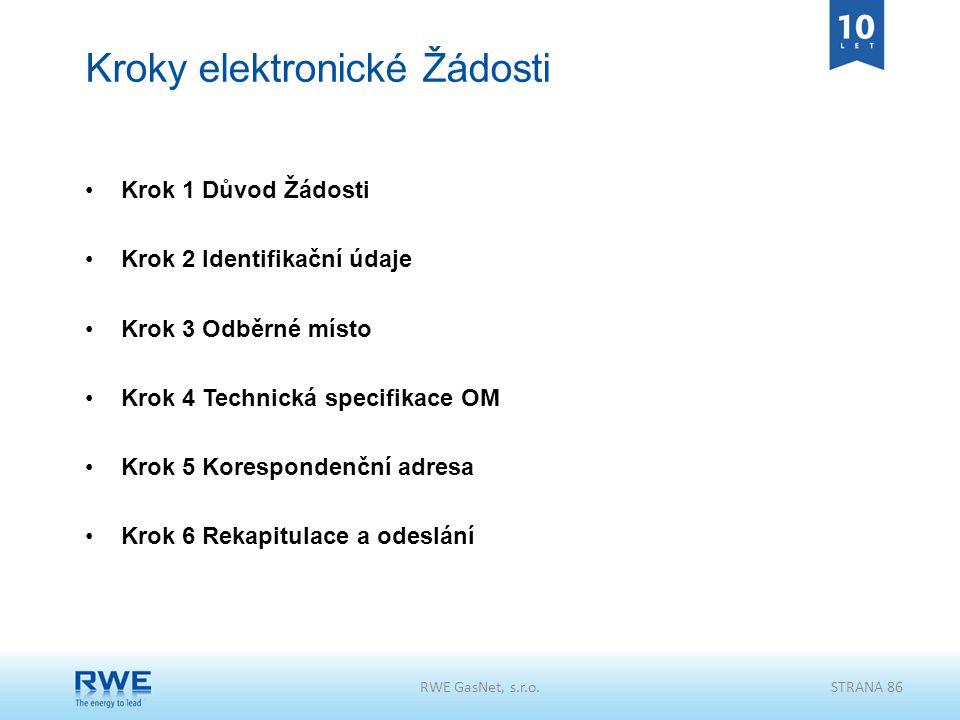 Kroky elektronické Žádosti