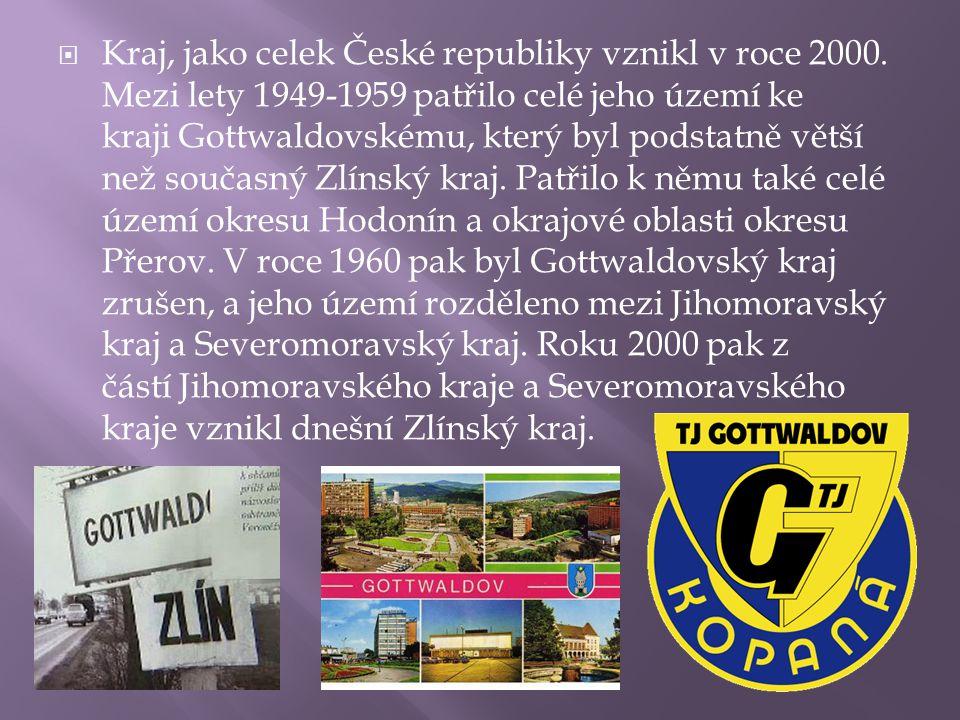 Kraj, jako celek České republiky vznikl v roce 2000