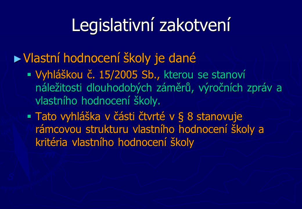 Legislativní zakotvení