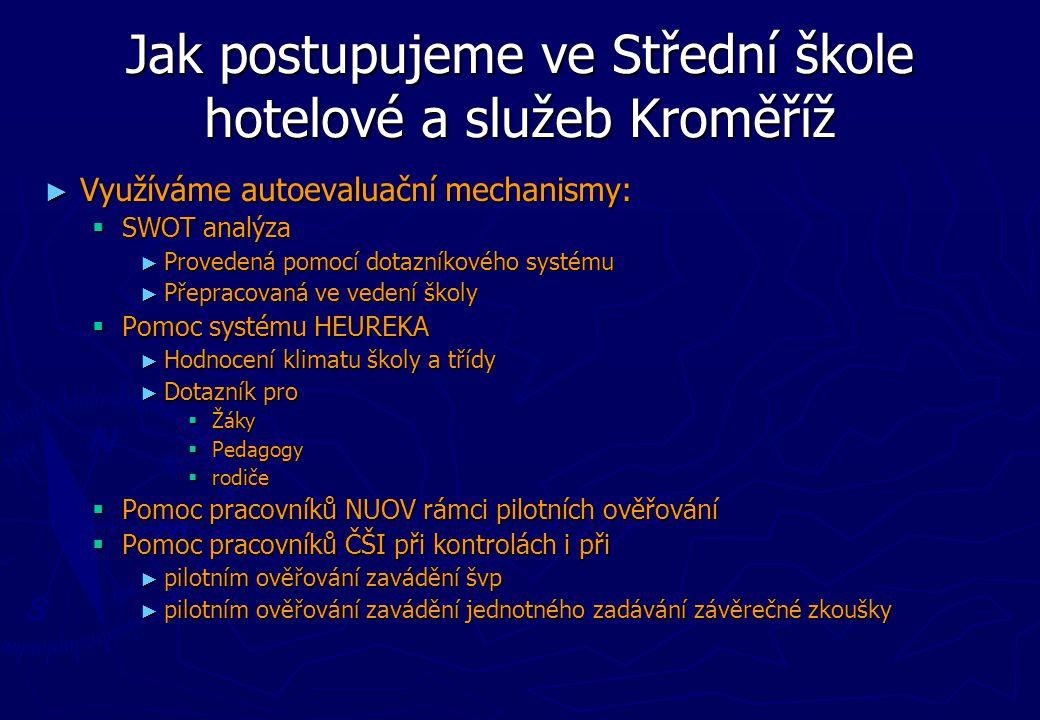 Jak postupujeme ve Střední škole hotelové a služeb Kroměříž