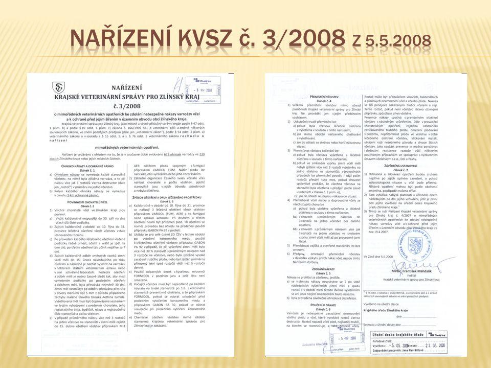 Nařízení KVSZ č. 3/2008 z 5.5.2008