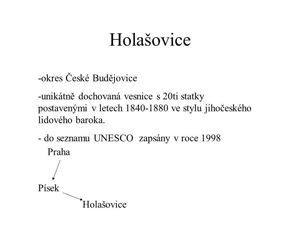 Holašovice -okres České Budějovice