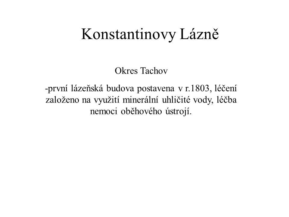 Konstantinovy Lázně Okres Tachov