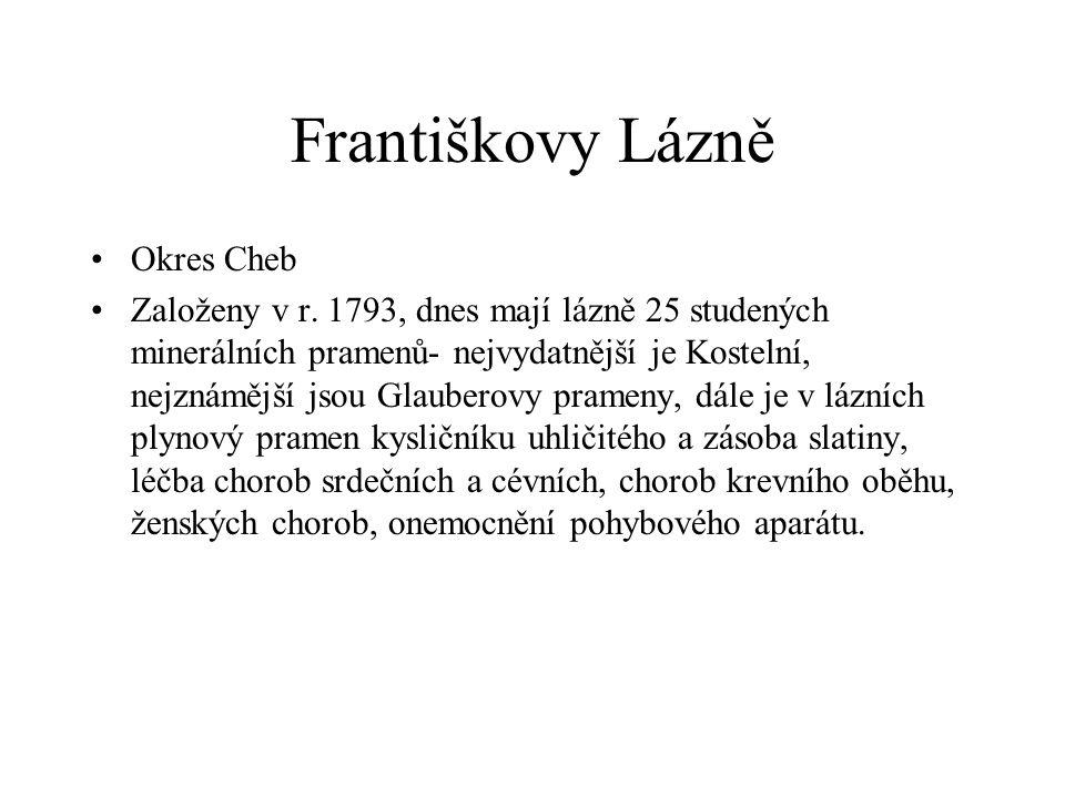 Františkovy Lázně Okres Cheb