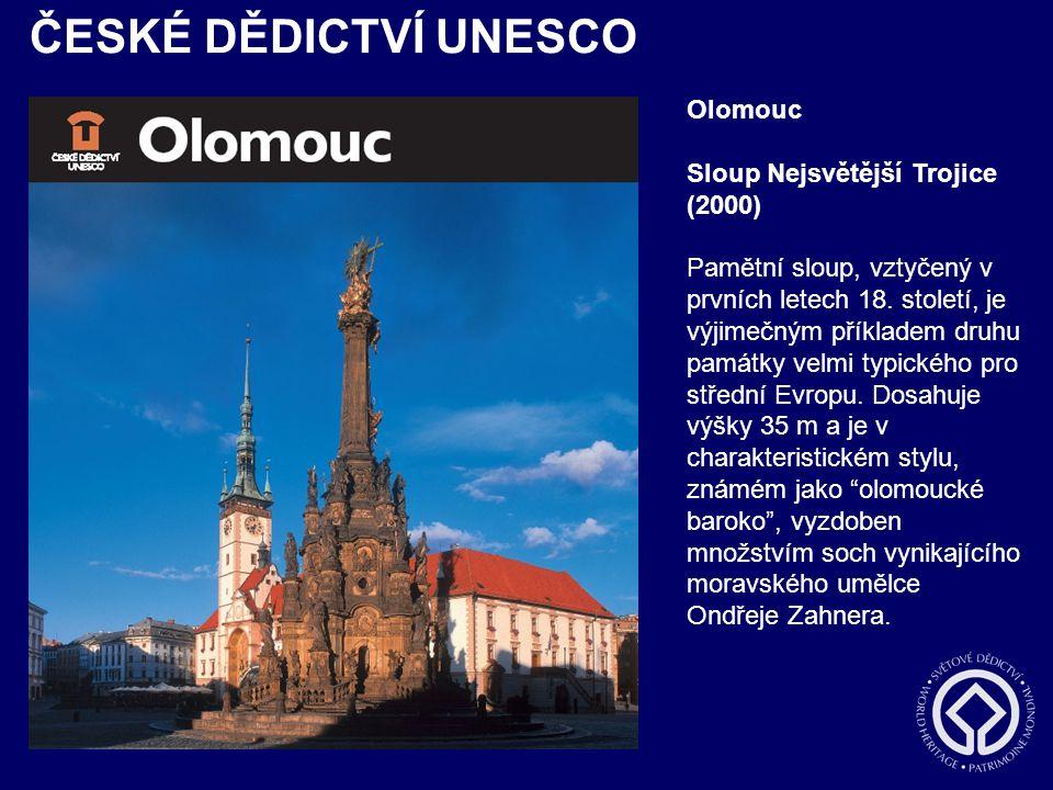 ČESKÉ DĚDICTVÍ UNESCO Olomouc Sloup Nejsvětější Trojice (2000)