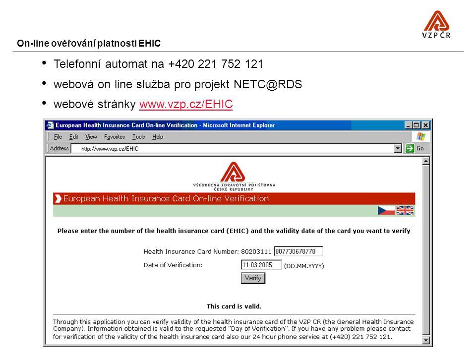 On-line ověřování platnosti EHIC
