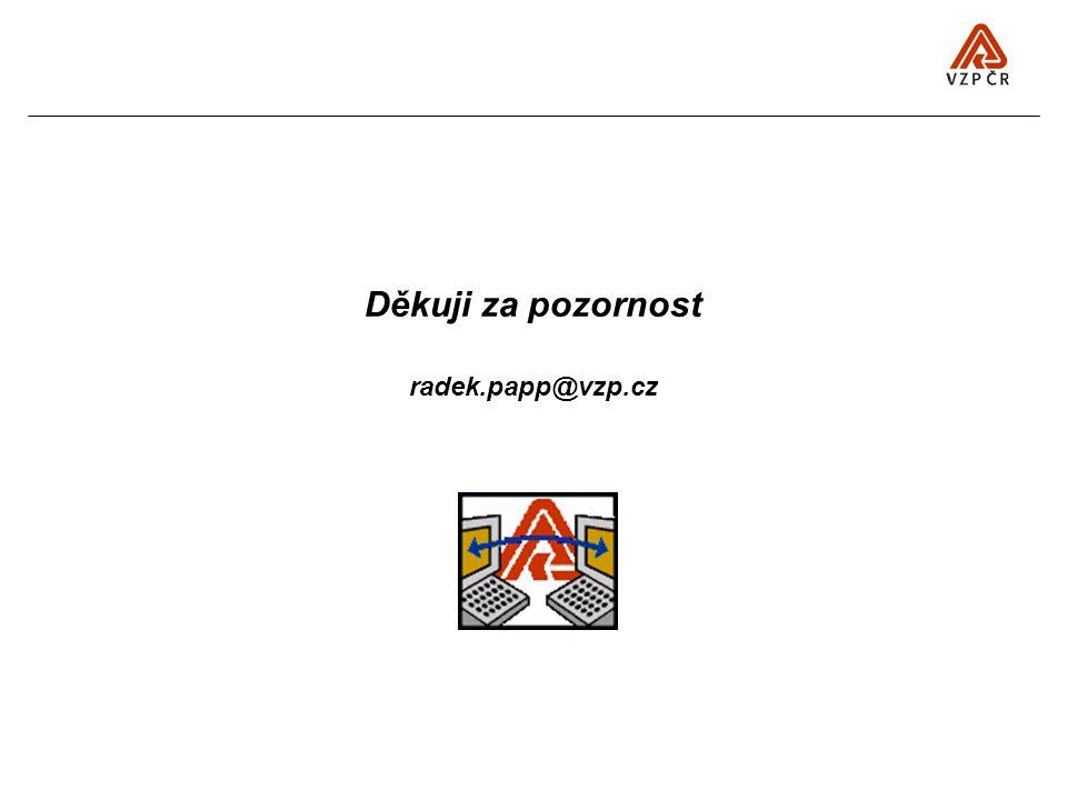 Děkuji za pozornost radek.papp@vzp.cz