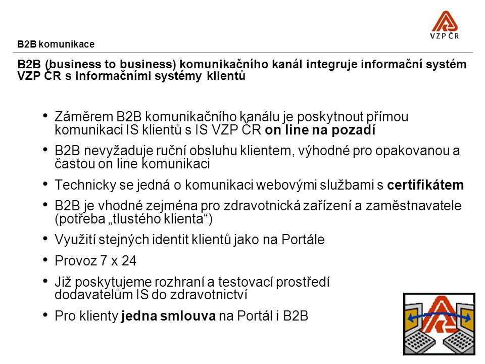 Technicky se jedná o komunikaci webovými službami s certifikátem