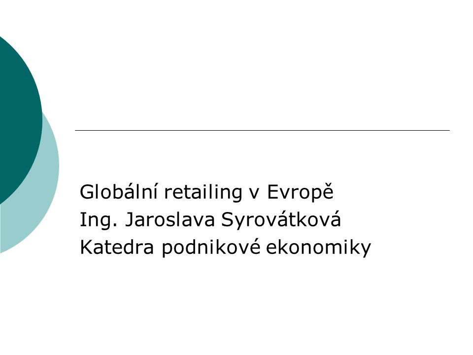 Globální retailing v Evropě