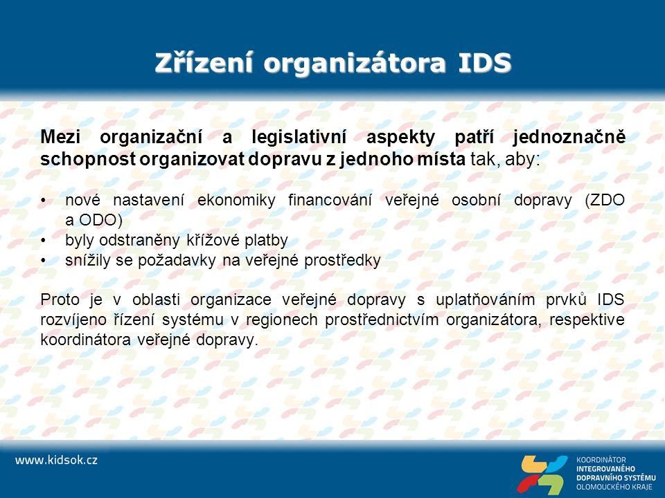 Zřízení organizátora IDS