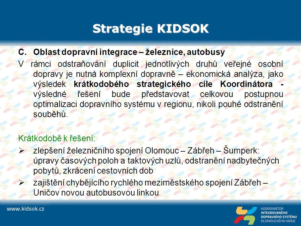 Strategie KIDSOK Oblast dopravní integrace – železnice, autobusy