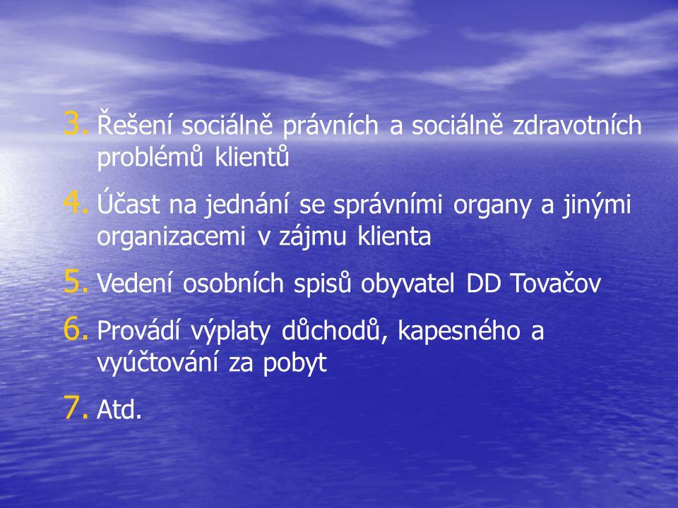 Řešení sociálně právních a sociálně zdravotních problémů klientů