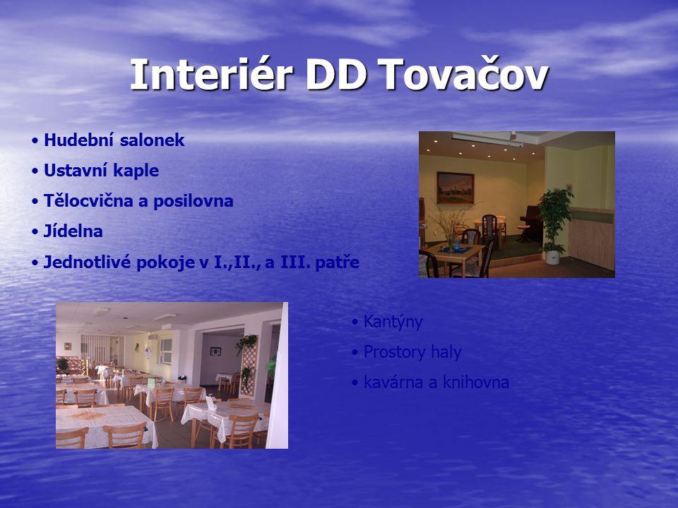 Interiér DD Tovačov Hudební salonek Ustavní kaple
