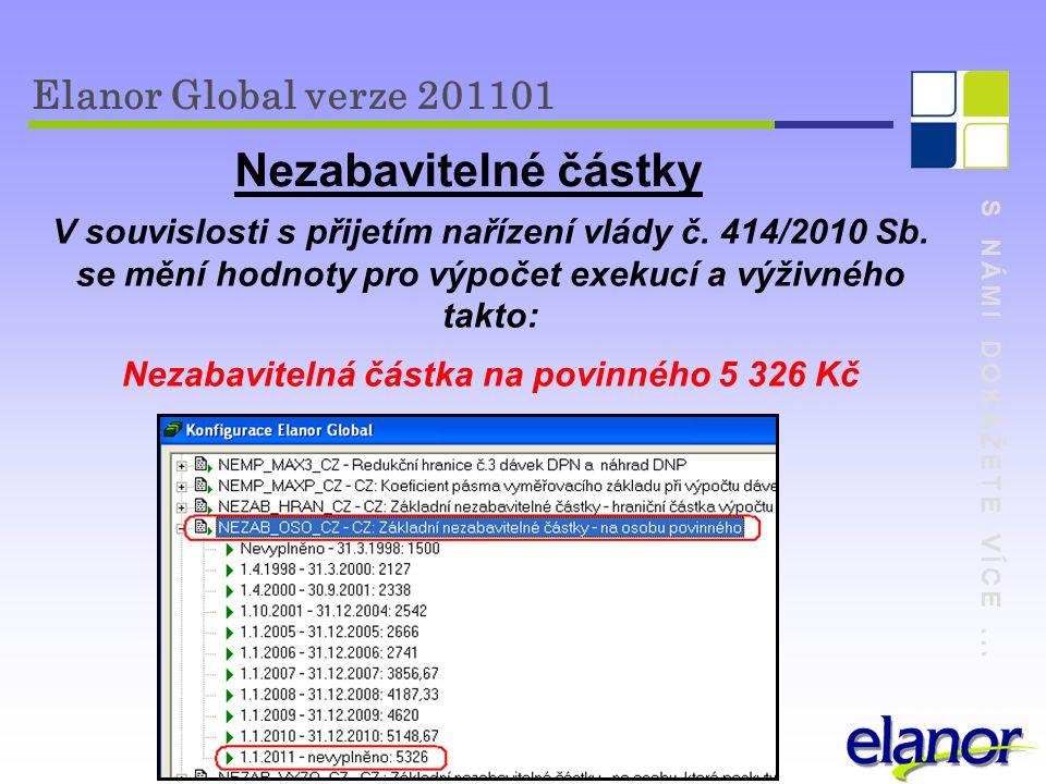 Nezabavitelné částky Elanor Global verze 201101