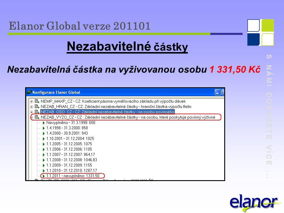 Nezabavitelná částka na vyživovanou osobu 1 331,50 Kč