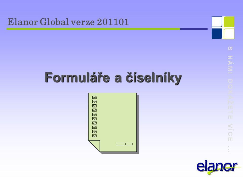 Formuláře a číselníky Elanor Global verze 201101