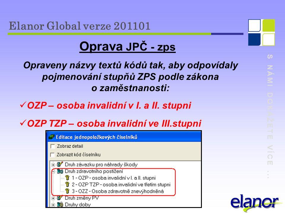 Oprava JPČ - zps Elanor Global verze 201101