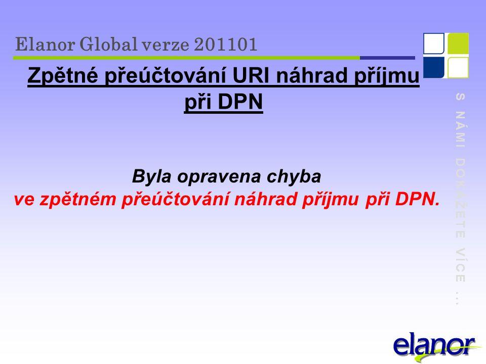 Zpětné přeúčtování URI náhrad příjmu při DPN