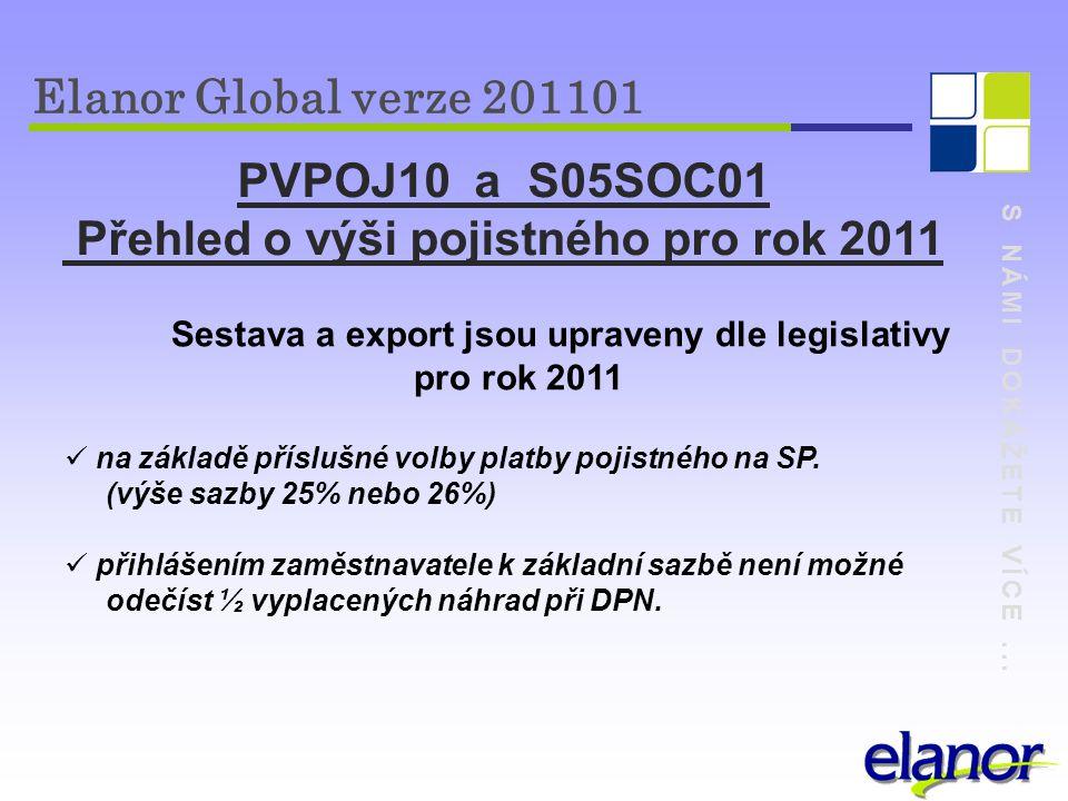 Přehled o výši pojistného pro rok 2011