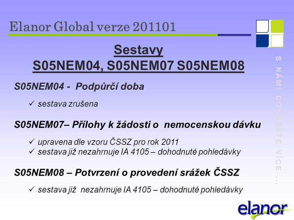 Elanor Global verze 201101 Sestavy S05NEM04, S05NEM07 S05NEM08