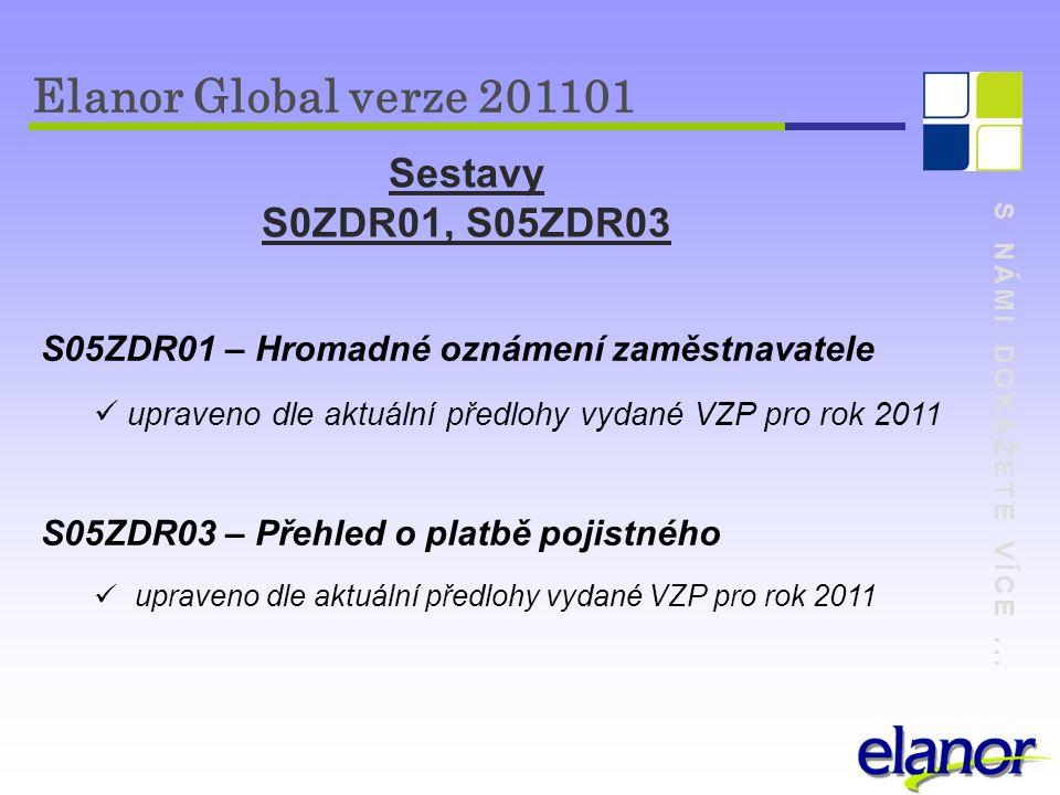Elanor Global verze 201101 Sestavy S0ZDR01, S05ZDR03