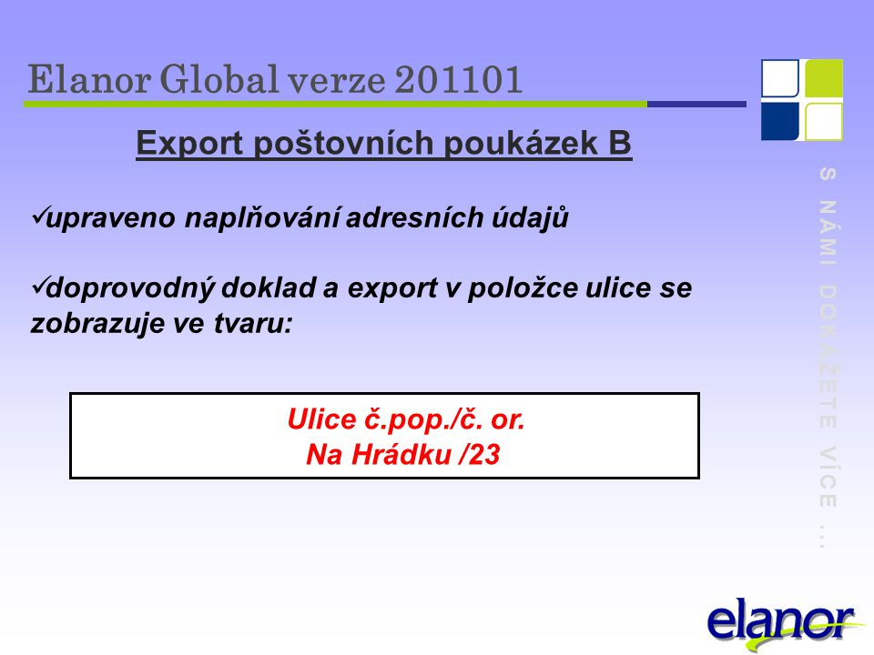 Export poštovních poukázek B