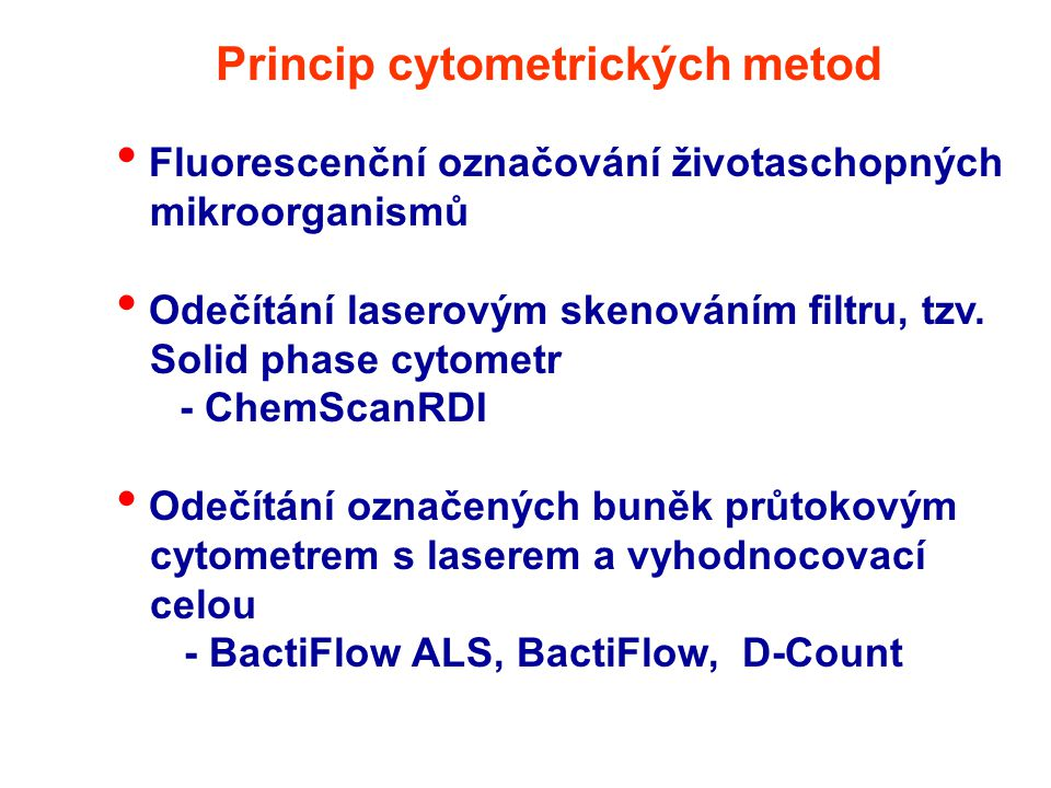 Princip cytometrických metod