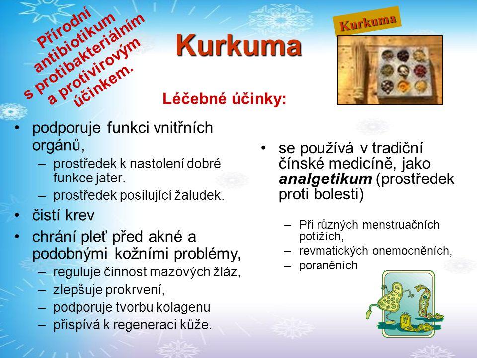 Přírodní antibiotikum s protibakteriálním a protivirovým účinkem.