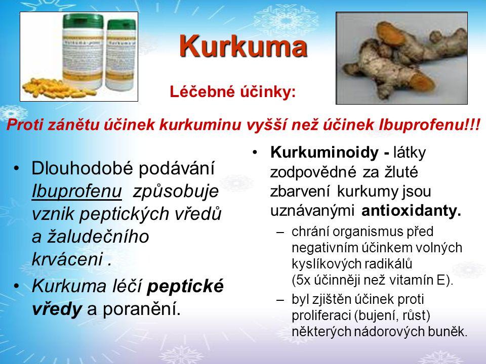 Proti zánětu účinek kurkuminu vyšší než účinek Ibuprofenu!!!