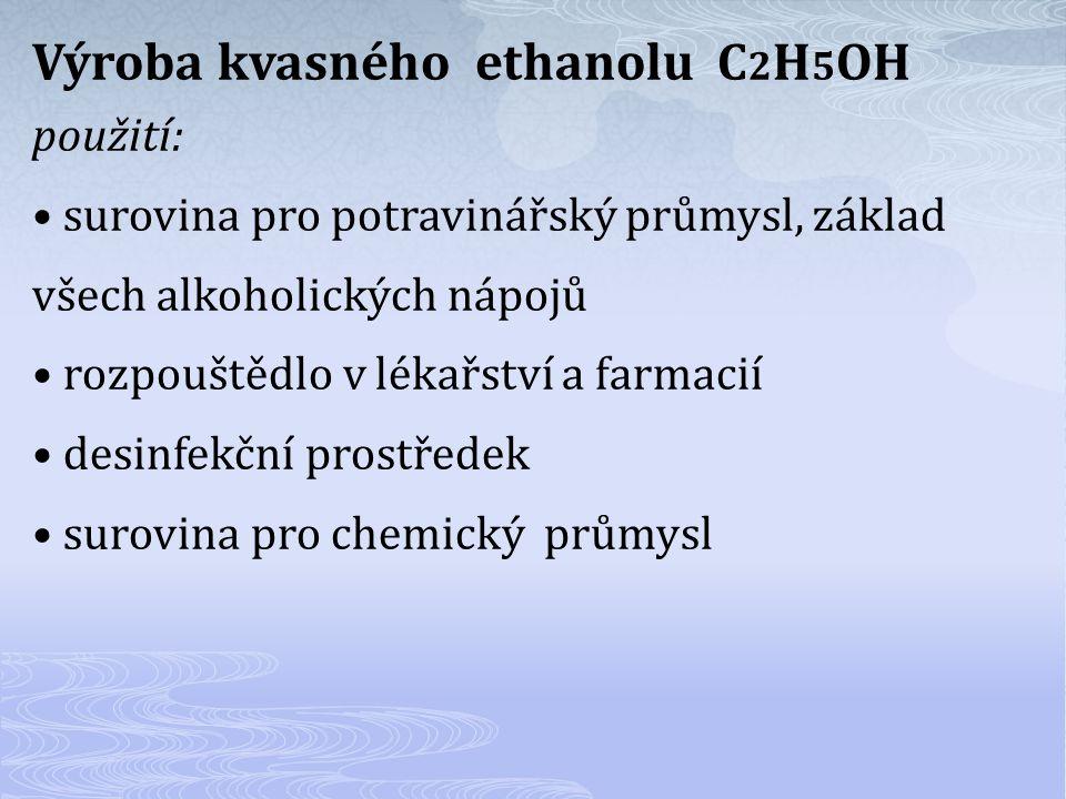 Výroba kvasného ethanolu C2H5OH