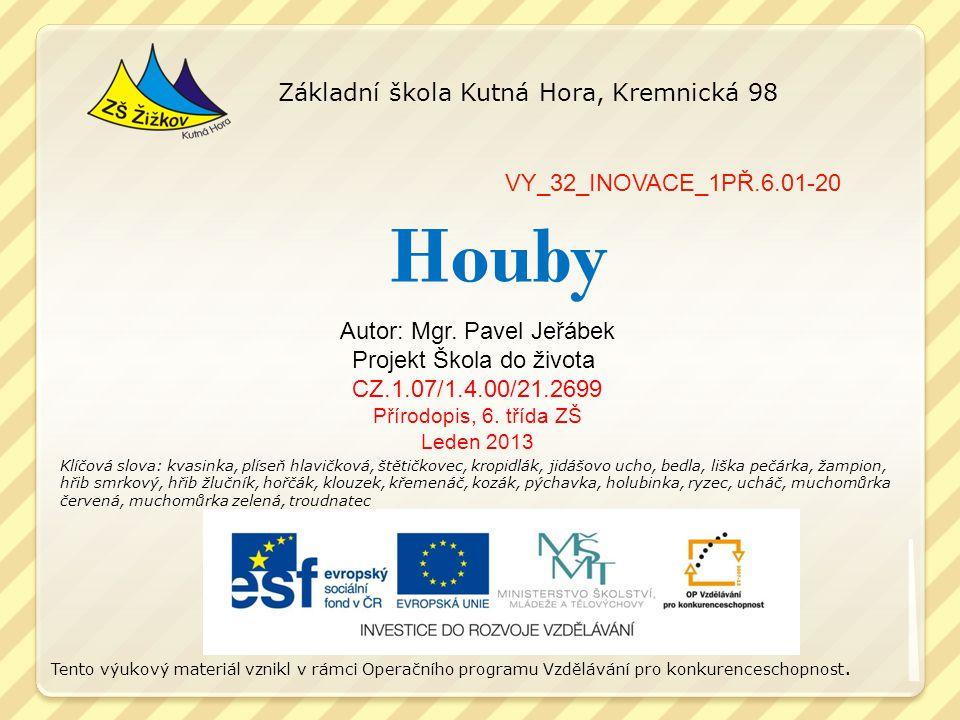 Houby Základní škola Kutná Hora, Kremnická 98