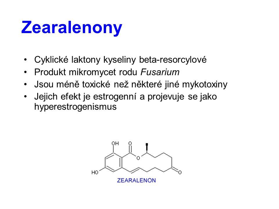 Zearalenony Cyklické laktony kyseliny beta-resorcylové