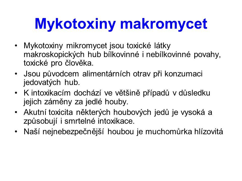 Mykotoxiny makromycet
