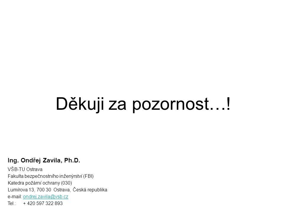 Děkuji za pozornost…! Ing. Ondřej Zavila, Ph.D. VŠB-TU Ostrava