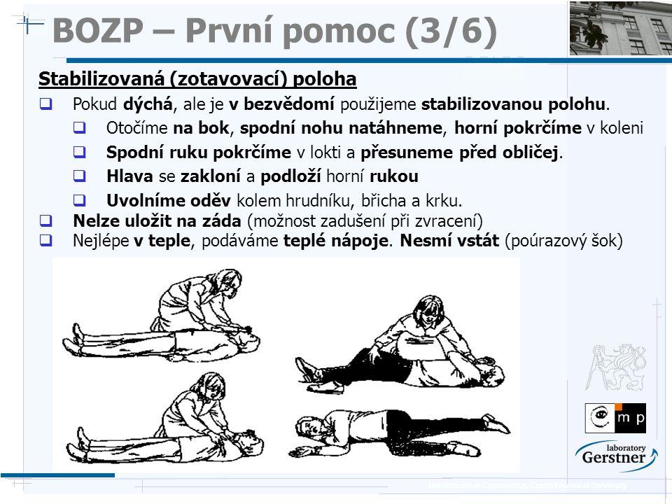 BOZP – První pomoc (3/6) Stabilizovaná (zotavovací) poloha