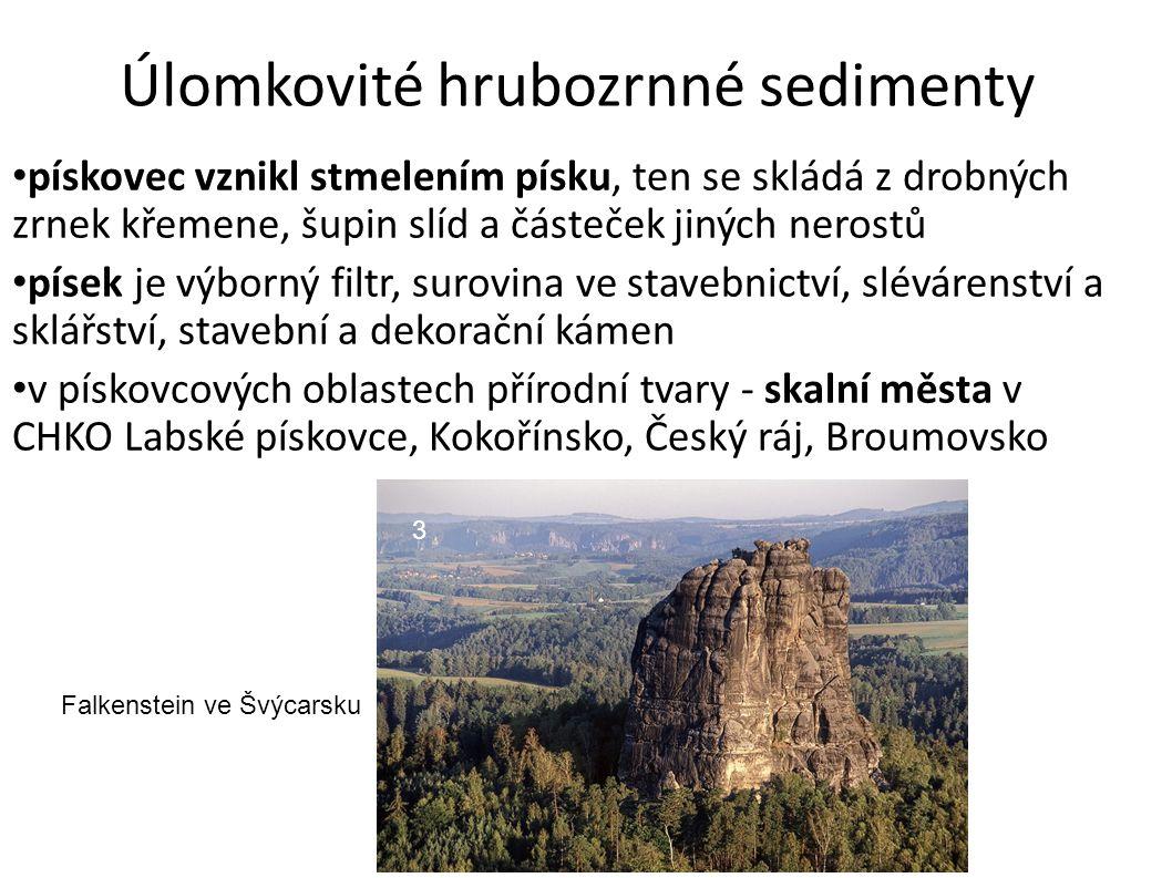 Úlomkovité hrubozrnné sedimenty