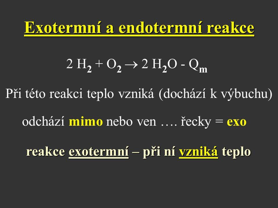 Exotermní a endotermní reakce