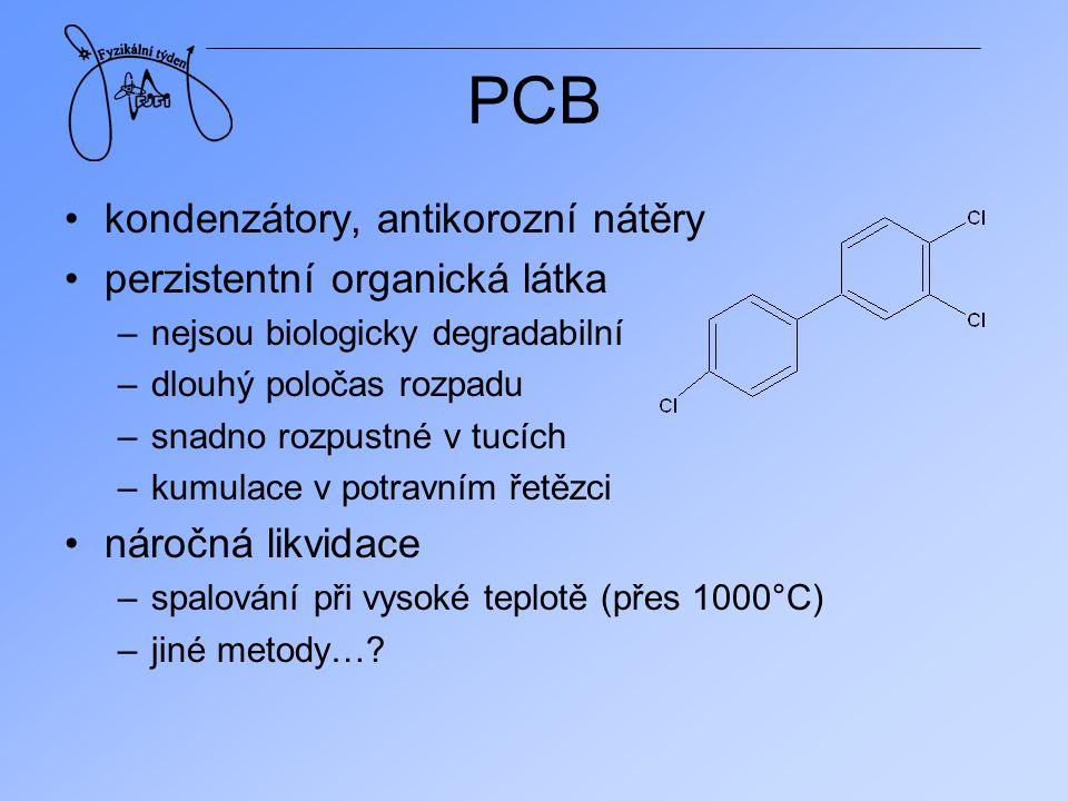 PCB kondenzátory, antikorozní nátěry perzistentní organická látka