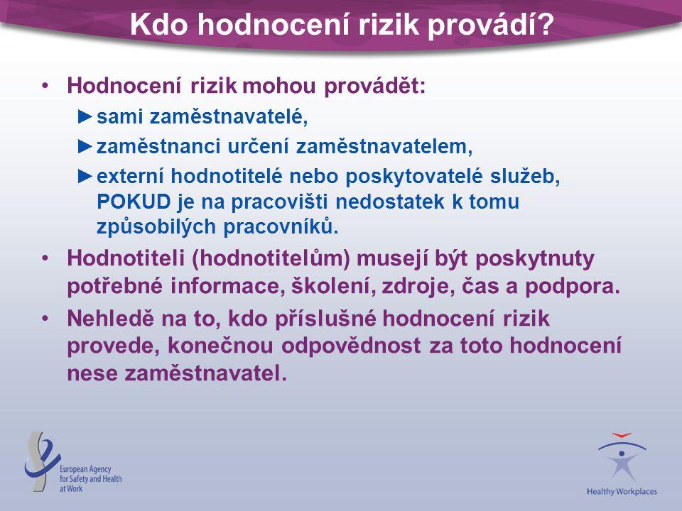 Kdo hodnocení rizik provádí