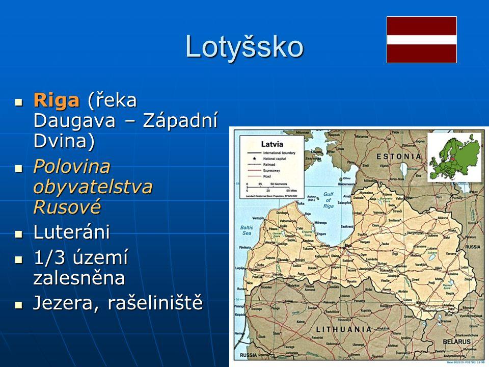 Lotyšsko Riga (řeka Daugava – Západní Dvina)