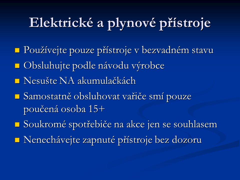 Elektrické a plynové přístroje