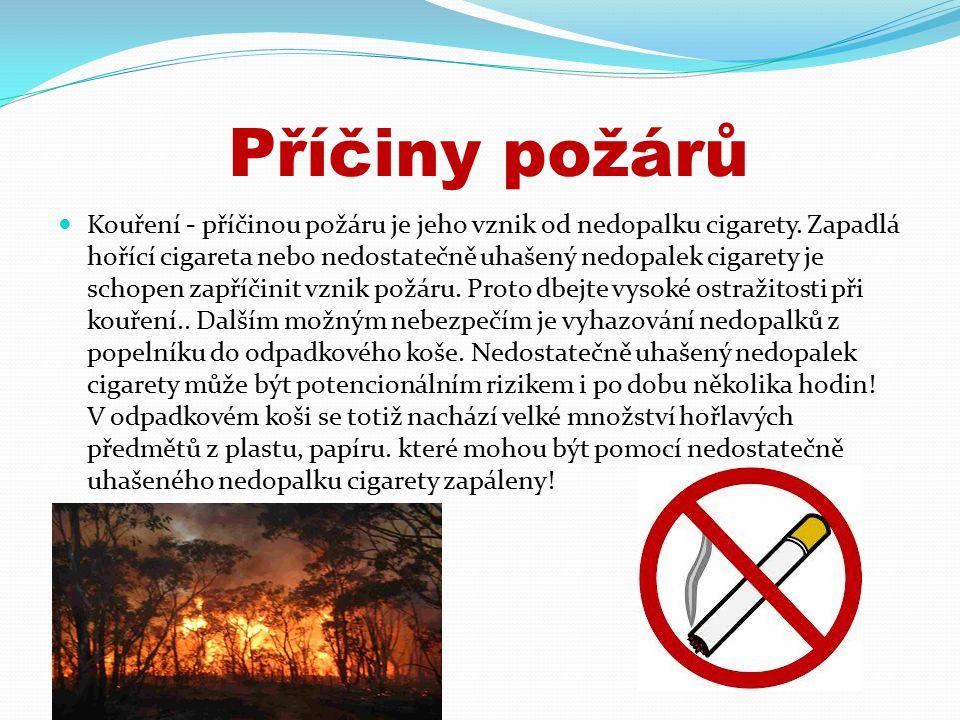 Příčiny požárů