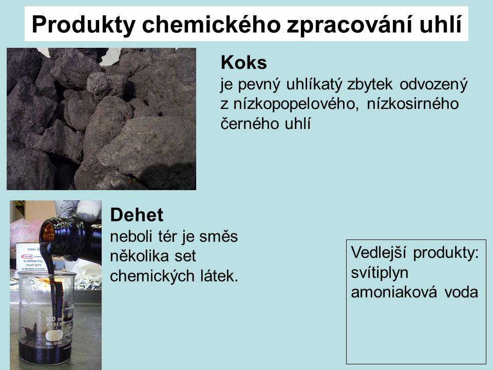 Produkty chemického zpracování uhlí